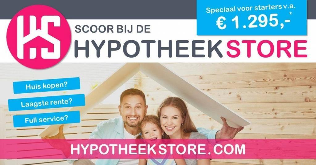 Scoor de laagste hypotheekrente bij De HypotheekStore